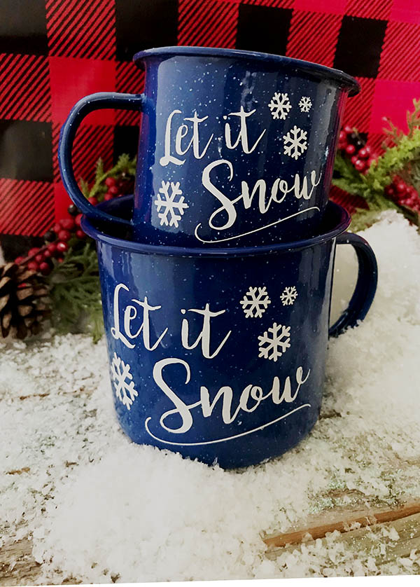 Let it snow camping mug - free cut file for cricut