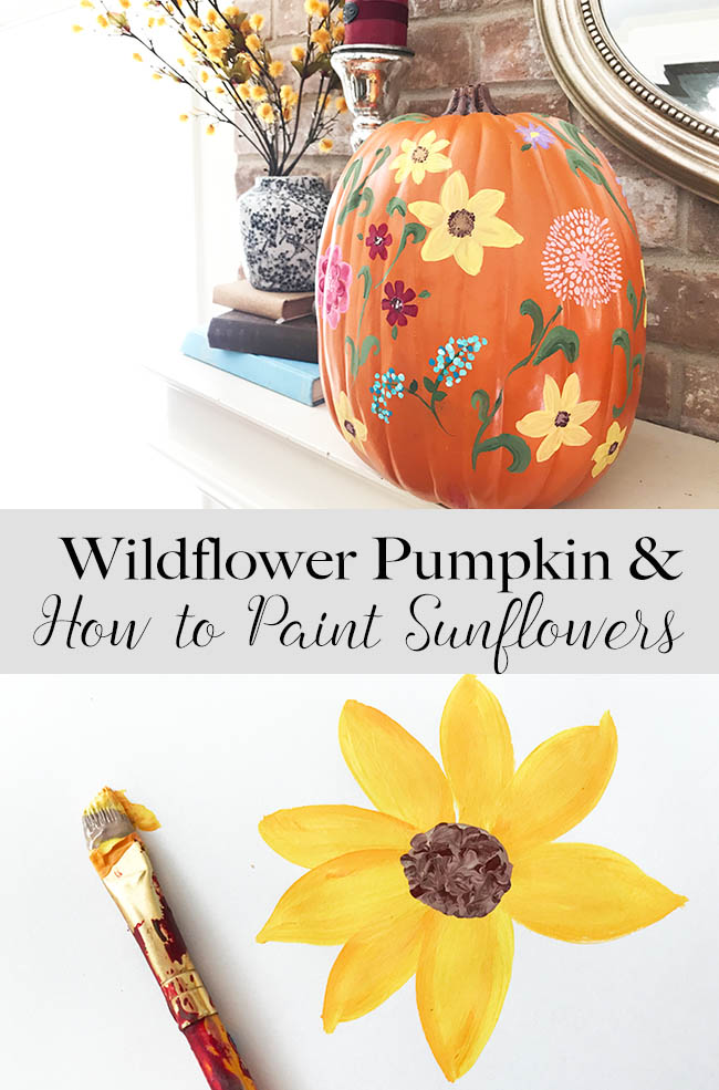 The pioneer woman inspired pumpkin and how to paint easy sunflowers