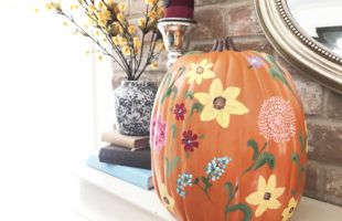 My Pioneer Woman Inspired Wildflower Pumpkin & How to Paint a Sunflower!