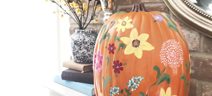 My PW Inspired Wildflower Pumpkin & How to Paint a Sunflower!