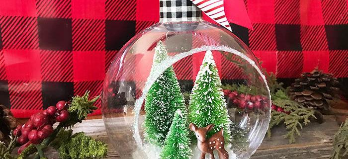Easy Handmade Ornament – Bottle Brush Tree Diorama