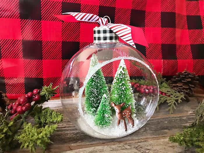 easy handmade christmas ornament bottle brush trees