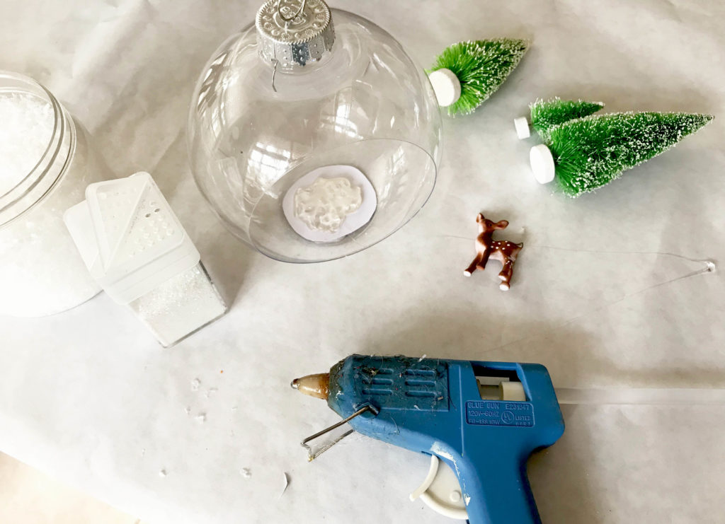 how to make a diorama bottle brush christmas ornament