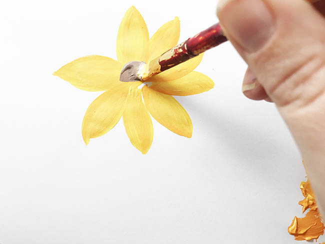 how to paint a sunflower easy fast