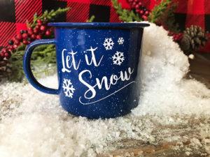 Let It Snow – Free Cut File – Make These Super Cute Mugs!