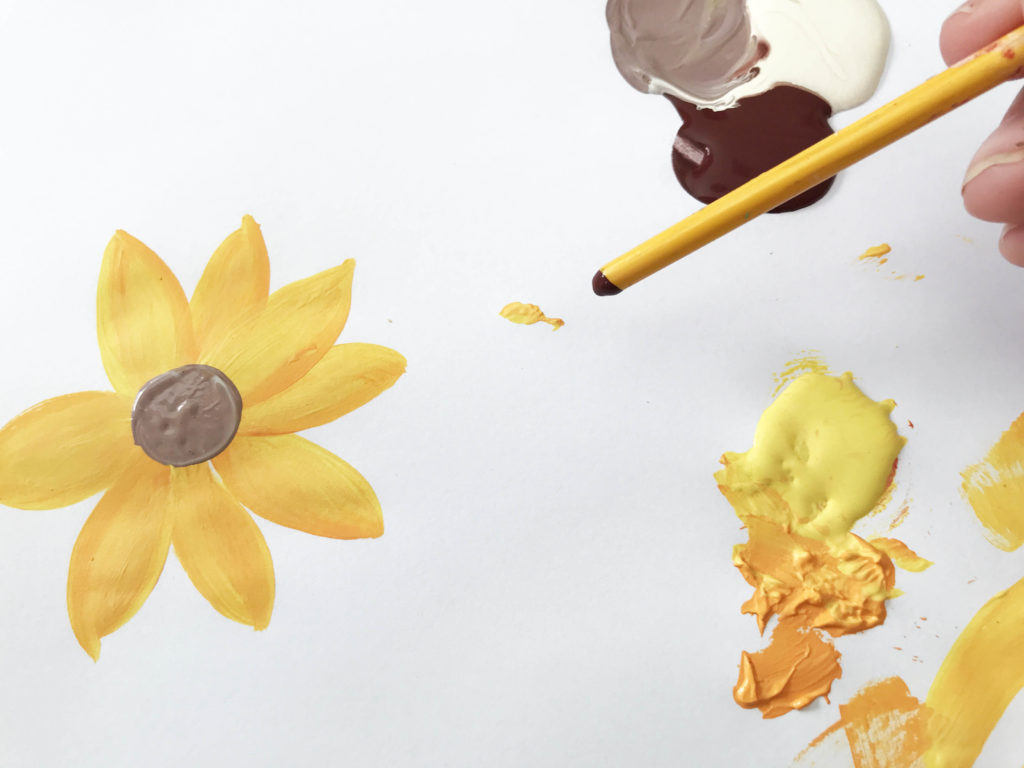 learn to paint sunflower
