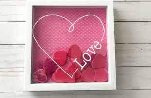 Valentine's Heart Shadow Box – With Free Valentine Cut File