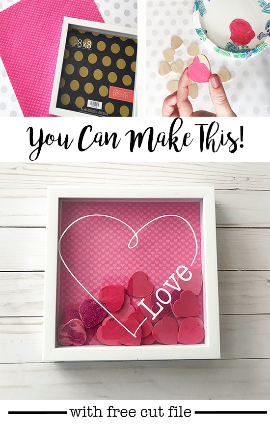You can make this! Simple shadowbox design that can be changed for valentines, weddings, kids and more