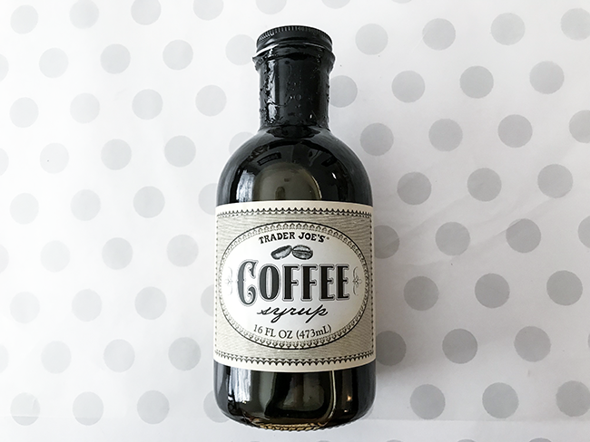coffee syrup from trader joes