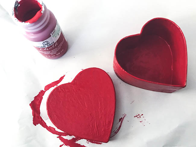 painted valentine's day treat box