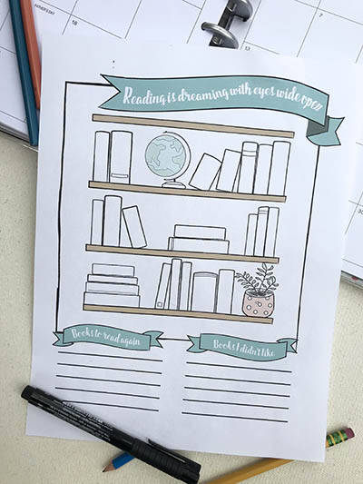 printable for your planner that tracks the books you want to read or have finished