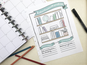 Printable Reading Tracker – Great for Planners or Bullet Journals