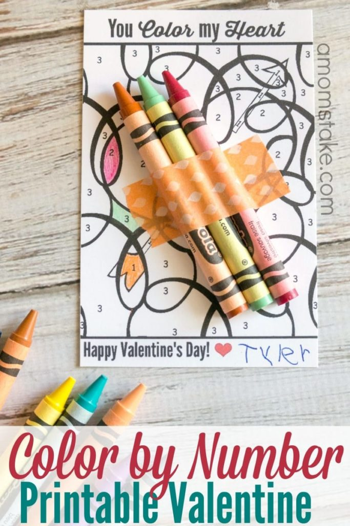 Color by Number Free printable Valentines - any many other free valentines
