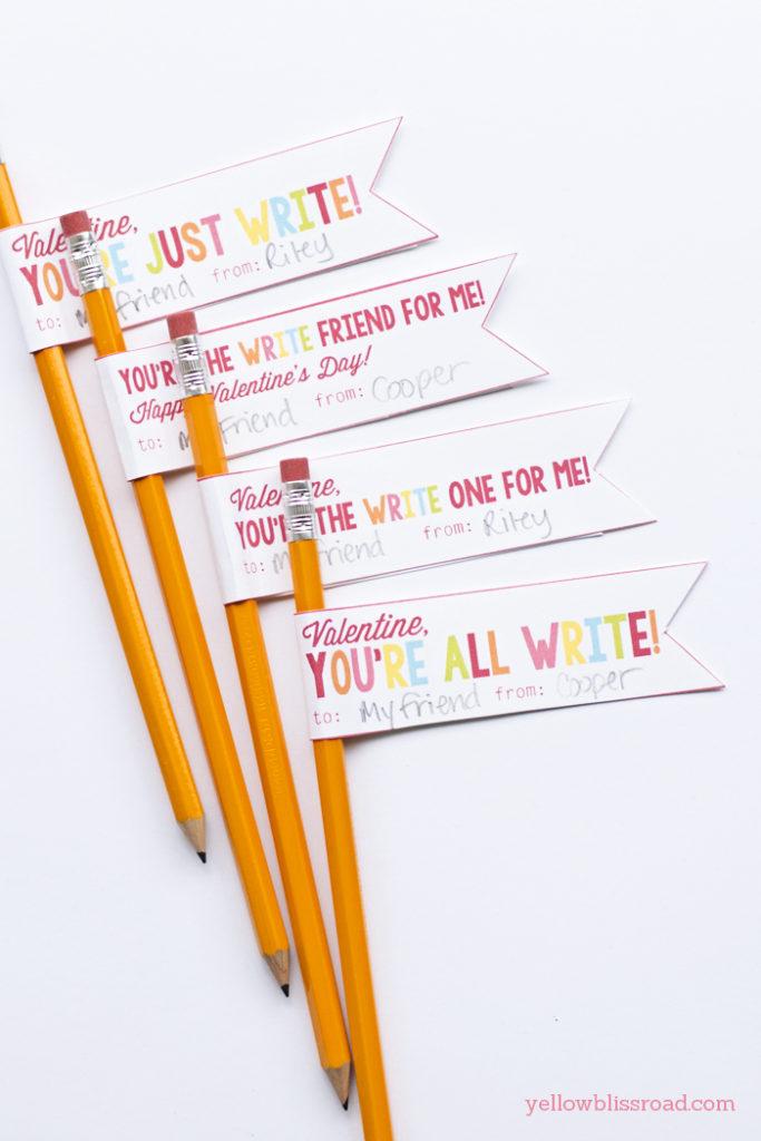 Free Printable Pencil Valentines