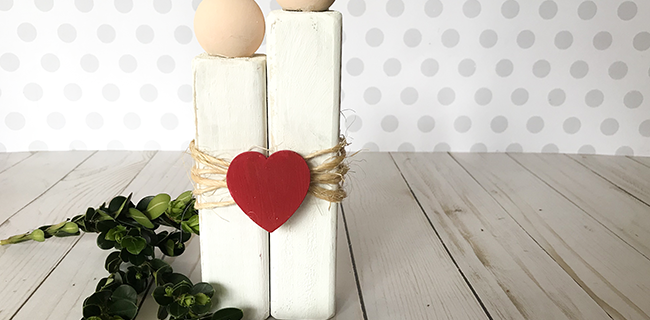 Rustic Love – A Cute Craft for Valentine's Day or as a Lovey-Dovey Gift
