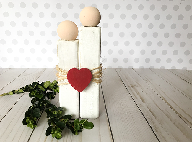 Love Couple Craft - make this out of wood and paint