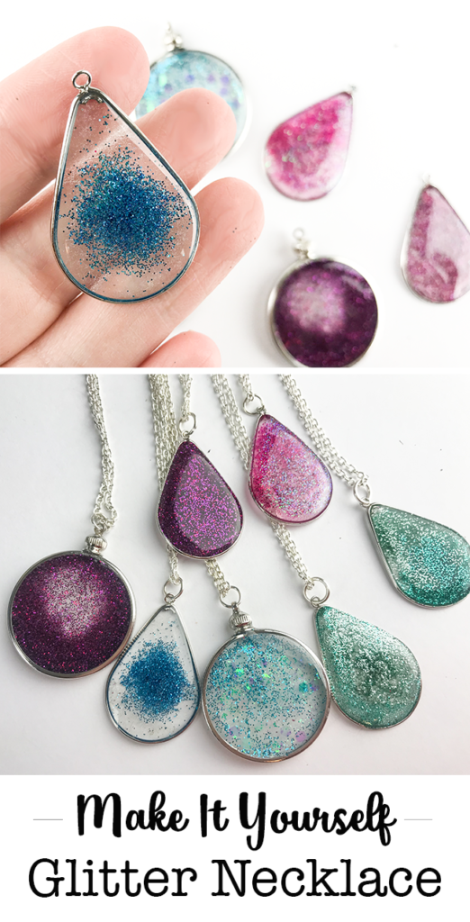 Make it Yourself - Floating Glitter Necklace Made with Resin