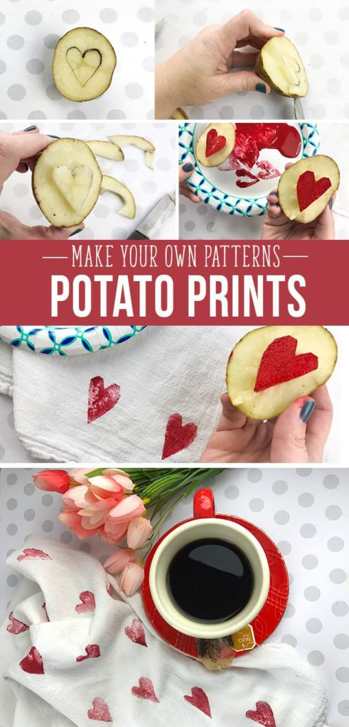 Make your own patterns with potato prints