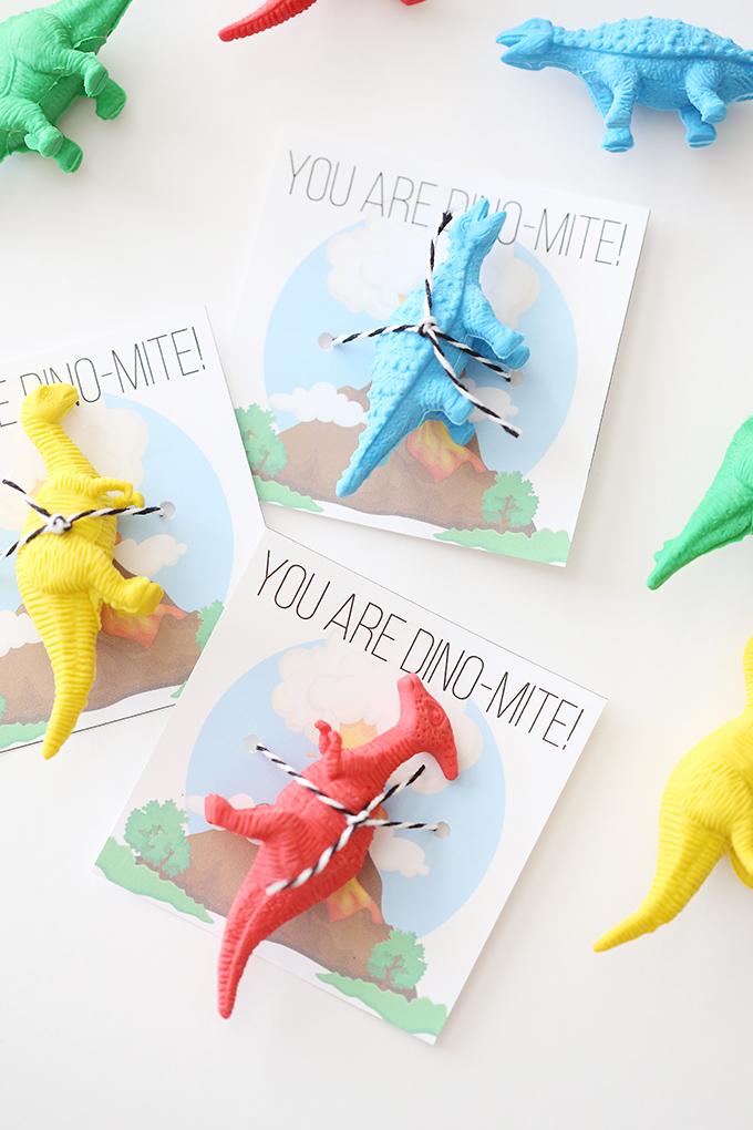 Printable Dinosaur Valentine