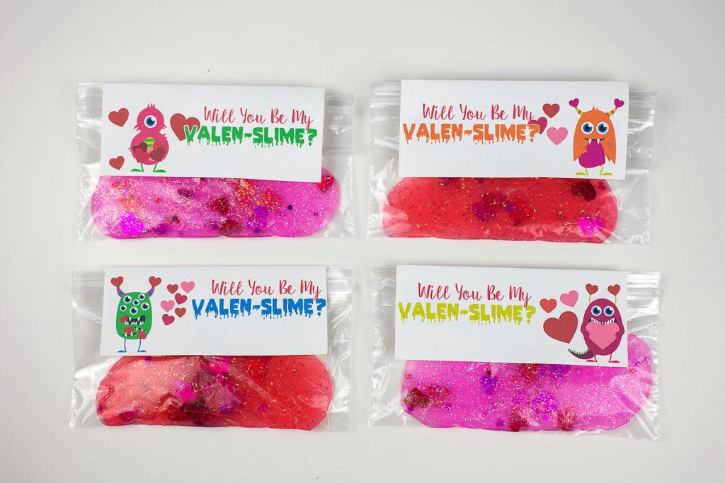 Slime Valentine Cards