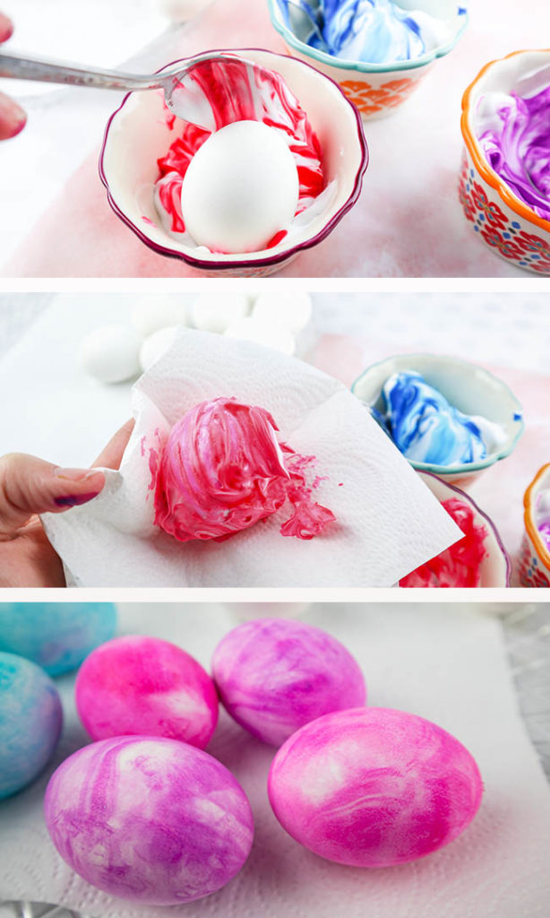 Diy marbled easter eggs grab the shaving cream and lets marble put into mix forumfinder Gallery
