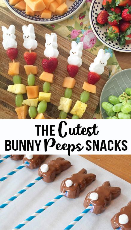 the cutest bunny peep snacks