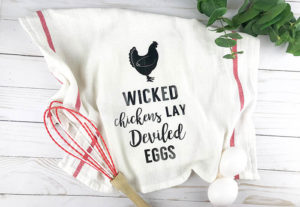 Wicked Chickens Lay Deviled Eggs | Free Cut File or Printable!