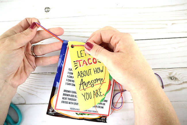 Taco Appreciation Gift - Free printable taco card and taco soup recipe