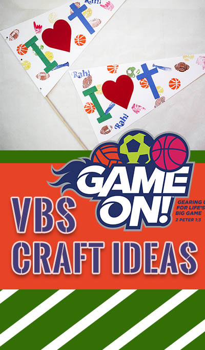 VBS craft ideas for Game On! Great ideas for all ages!