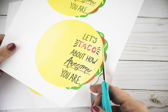 free printable taco thank you cards