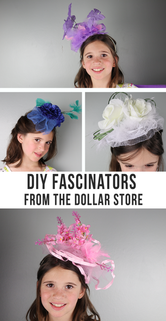 DIY Fascinators - perfect for girls night, tea parties, royal weddings, the Kentucky Derby parties and more! Make your own fancy hats