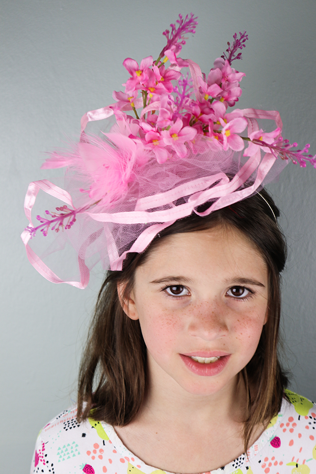 diy fascinator for a tea party or royal wedding