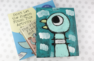 Pigeon Craft for Kids! Don't Let The Pigeon Steal Your Paintbrush!