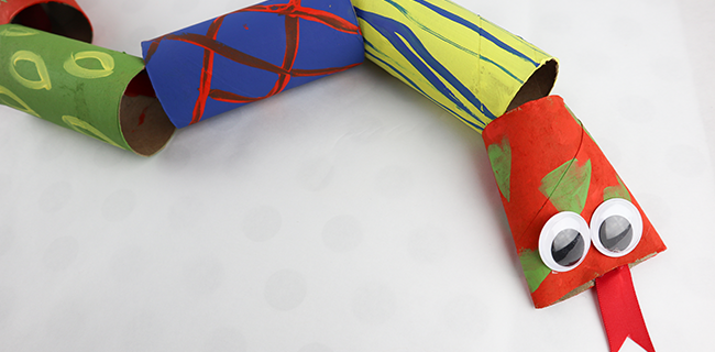 Toilet Paper Roll Snakes! Easy and Fun Craft for Kids