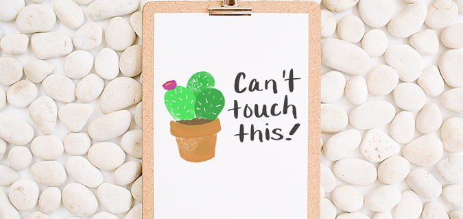 Can't Touch This! Super Cute Free Printable Cactus Poster