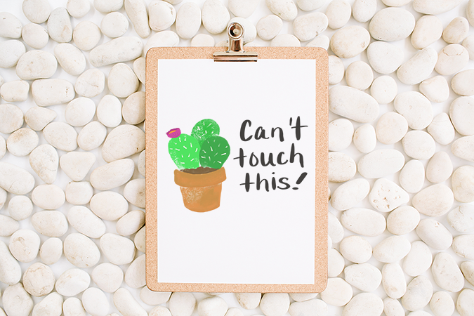 photograph regarding Printable Poster named Cant Contact This! Tremendous Lovely Free of charge Printable Cactus Poster