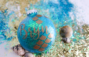 Mermaid Glitter Ornaments – You Can Make These!