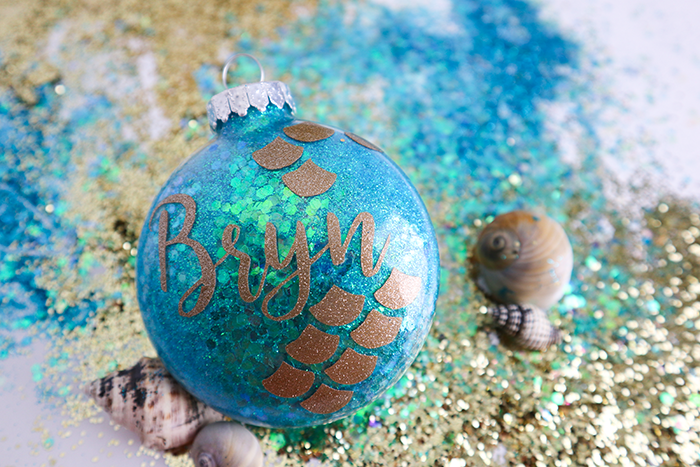 Mermaid Glitter Ornaments - Glitter Christmas Ornaments