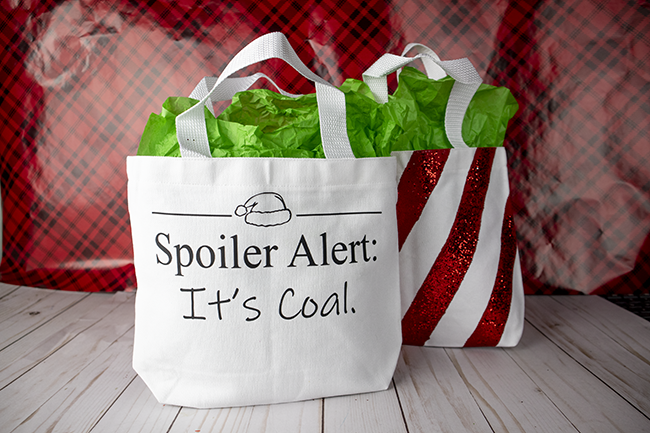 Free Christmas Cut File - Spoiler alert, it's coal