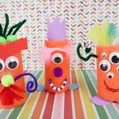 Fun Craft Idea For Kids! Pool Noodle Monsters
