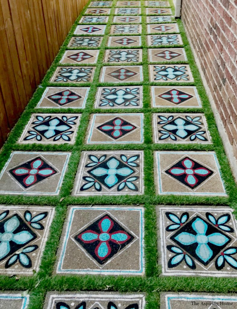 Painted Concrete Stepping Stones