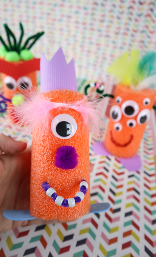Fun Craft Idea For Kids Pool Noodle Monsters Clumsy Crafter