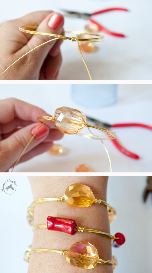 cf27a0a70d1717 DIY Wire Wrapped Bracelets - Gorgeous Arm Candy You Can Make ...
