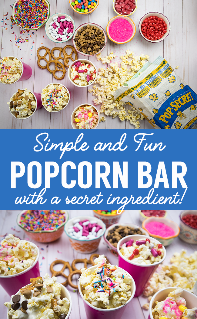 DIY Popcorn Bar - Fun and Easy Party Idea