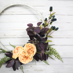 My Favorite Wreath – The DIY Fall Hoop Wreath
