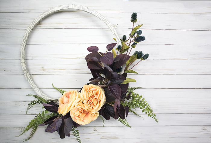 Fall Wreath Ideas - Modern Style Hoop Wreath