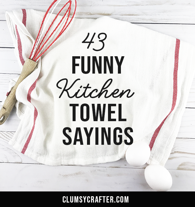 join 1800 crafty people who get new diy tutorials by email - Funny Kitchen Towels