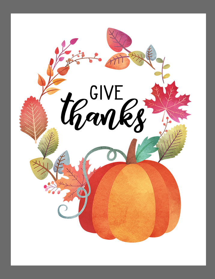graphic about Give Thanks Printable titled No cost drop printable - Offer you because of - Clumsy Crafter