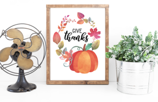 Give Thanks – Fall Printable – Easy and Free Fall Decor
