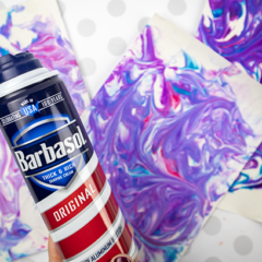 How to Marble Paper with Shaving Cream – The Easiest  Craft You'll Ever Do.
